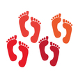 set of a print foots vector image