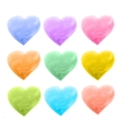 set of hearts different color vector image