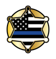 Police Support Star Badge Flag vector image vector image