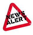 news alert rubber stamp vector image vector image