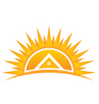 House on Sunset Logo vector image vector image