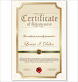 gold detailed certificate vector image