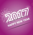 2017 Happy New Year on pink background vector image