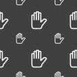 Hand print Stop icon sign Seamless pattern on a vector image