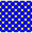 Yellow Polka dot Chess Board Grid Blue vector image
