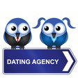 DATING AGENCY vector image vector image