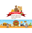 bank wild west game background 19th century in vector image