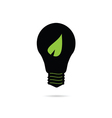 bulb with green leaf vector image