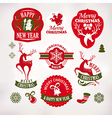Christmas and New Year decoration labels vector image