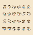 collection of woman eyes vector image