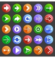 Flat arrow icons 4 vector image
