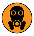 Gas mask sign vector image