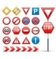 icons set of road signs vector image