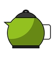 kitchen teapot isolated icon vector image