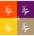 love hand-drawn lettering vector image