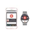 Set Smartphone and Smart Watch vector image