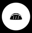 Tortilla mexico fast food simple black icon eps10 vector image