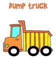 Yellow dump truck cartoon vector image