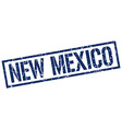 New Mexico blue square stamp vector image