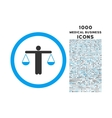 Lawyer Rounded Icon with 1000 Bonus Icons vector image