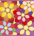 decorative floral background with colorful flowers vector image