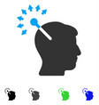 optical neural interface flat icon vector image