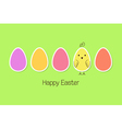 Easter eggs and baby bird vector image