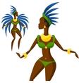 brazilian carnival girl dansing vector image