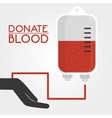 Blood donation campaign vector image