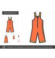 baby apparel line icon vector image