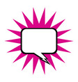 empty comic speech bubble vector image
