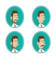 icons beard mustache vector image