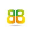Letter B logo symbol vector image