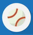 of exercise symbol on baseball vector image