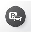parking icon symbol premium quality isolated road vector image