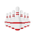 skittle for bowling in flat style vector image
