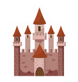 tale castle icon cartoon style vector image