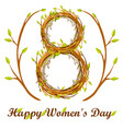 cute background greeting card happy women s day vector image