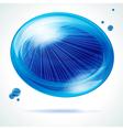Vivid blue bubble vector image vector image