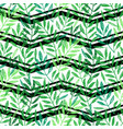 tropical palm leaves seamless foliage pattern vector image