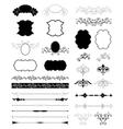 Decorative Floral Design Elements set vector image