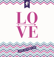 I love you - Valentines day greeting card vector image vector image
