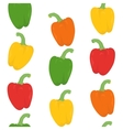 Seamless pattern with bright peppers vector image