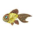 Gem Gold Fish vector image