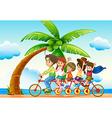 Riding bike vector image