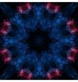 Stylized round mandala-like design on black vector image