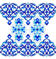 designed with shades of blue ottoman pattern vector image