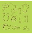 kitchen utensil design set vector image vector image