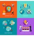 Intellectual property design concept set vector image
