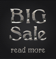 big sale silver icon vector image